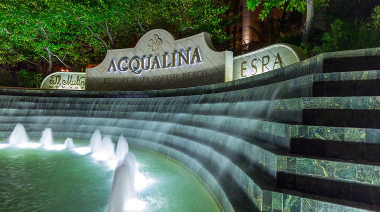 acqualina resort amp spa exterior sign