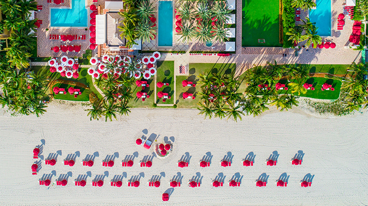acqualina resort and residences on the beach aerial wide
