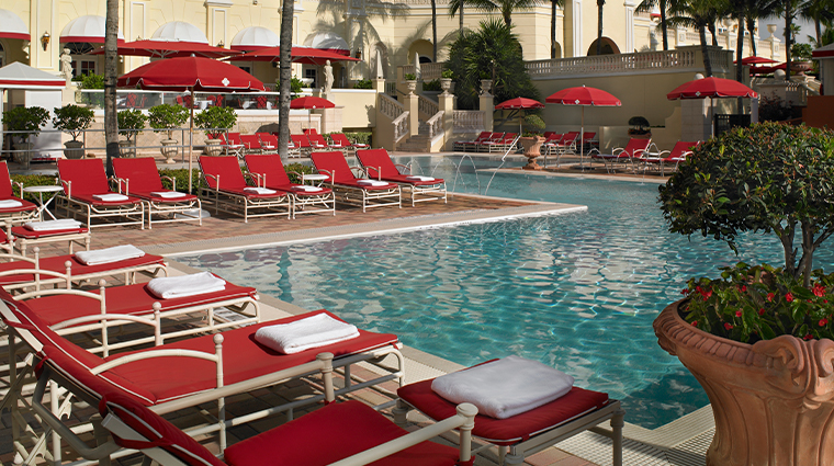acqualina resort and residences on the beach pool with loungers