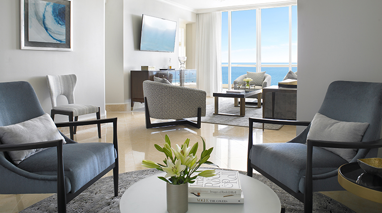 acqualina resort spa three bedroom living room