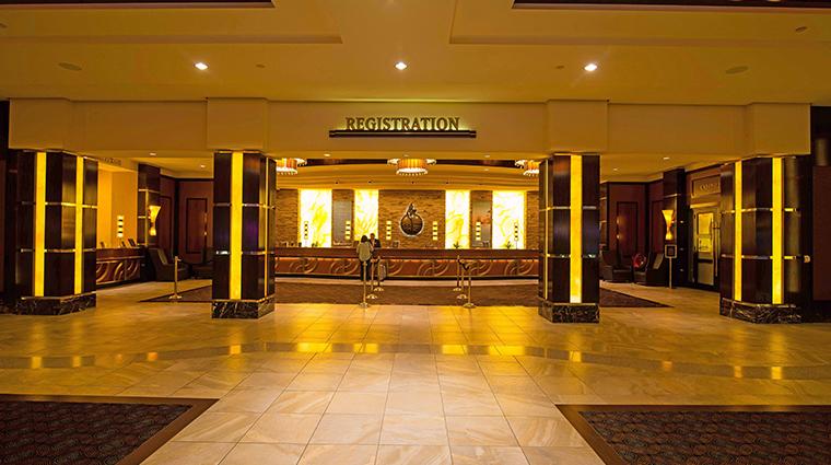 agua caliente casino resort spa reception