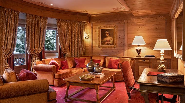 les airelles Suite Jardin Alpin Salon