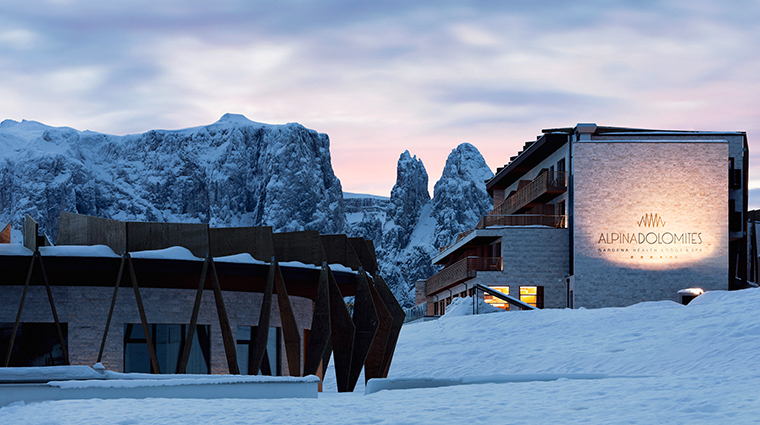 alpina dolomites exterior winter