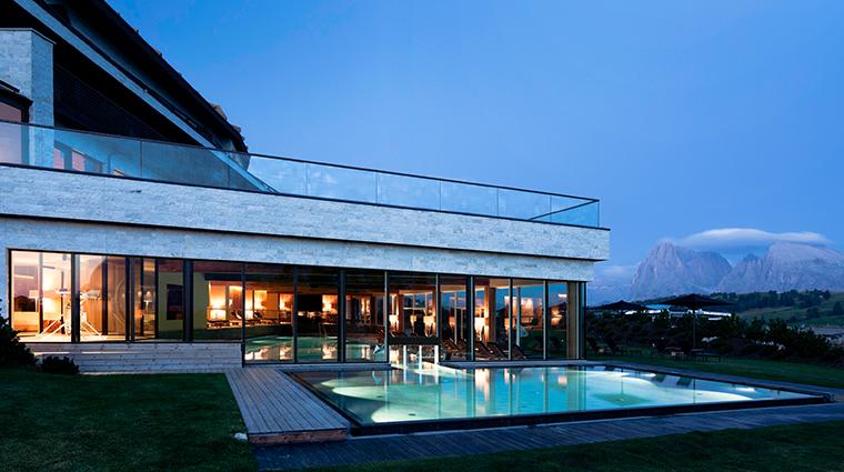 alpina dolomites outdoor pool