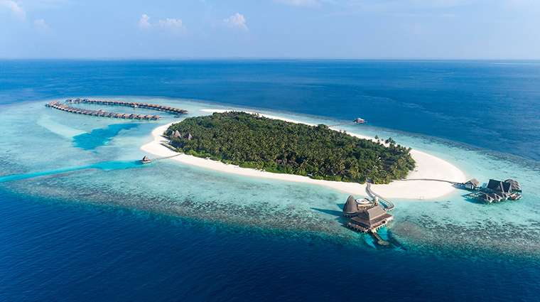 anantara kihavah maldives villas aerial