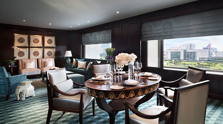 anantara siam bangkok hotel one bedroom corner dining