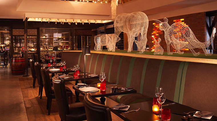 anantara the palm dubai resort Bushmans restaurant and bar