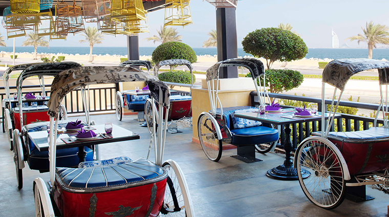 anantara the palm dubai resort Mekong Rickshaw terrace