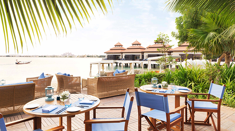 anantara the palm dubai resort beach house terrace
