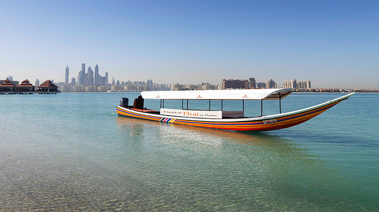 anantara the palm dubai resort longtail boat