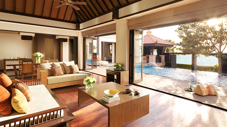 anantara the palm dubai resort two bed villa lounge