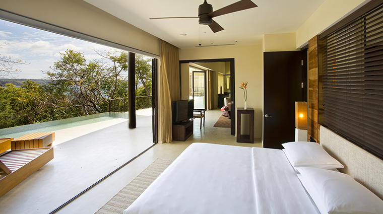 andaz peninsula papagayo resort bedroom view