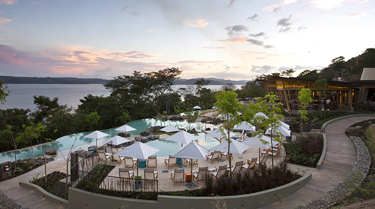 andaz peninsula papagayo resort pool dusk