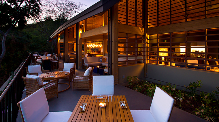 andaz peninsula papagayo resort restuarant outdoor seating
