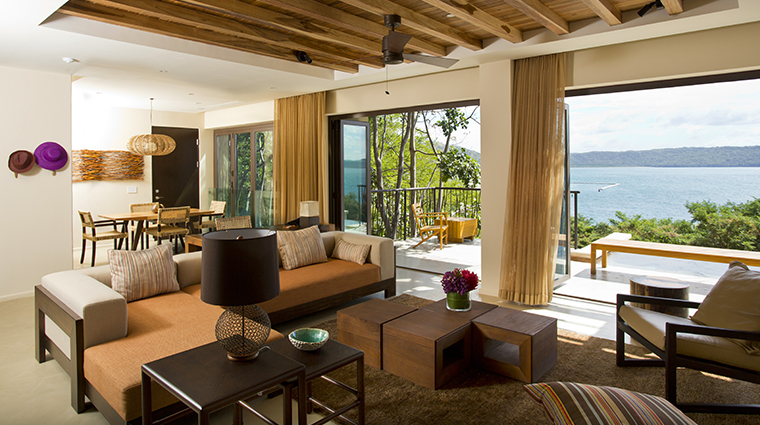 andaz peninsula papagayo resort suite living room water view