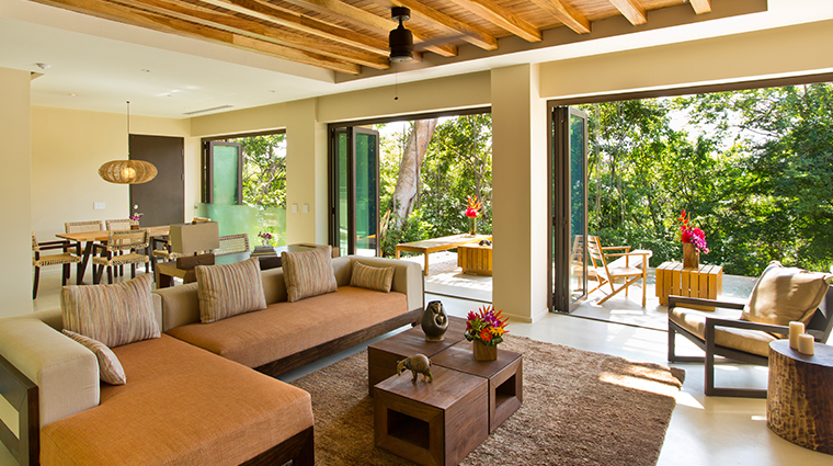 andaz peninsula papagayo resort suite living room
