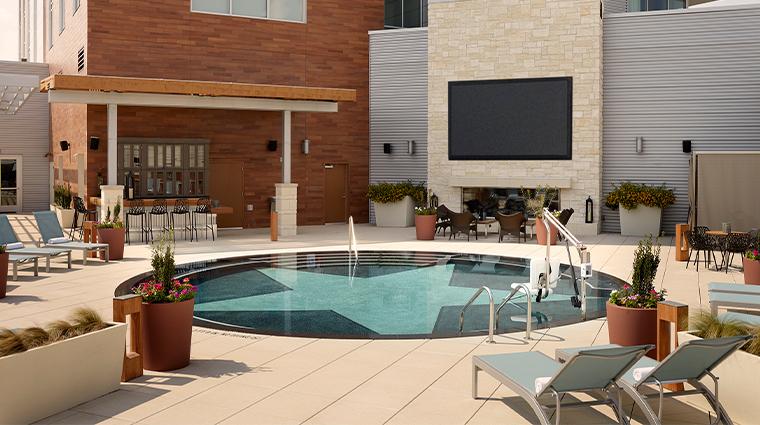 archer hotel austin pool patio tv