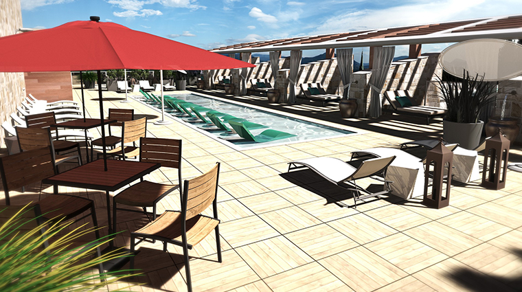 archer hotel napa rooftop ledge pool