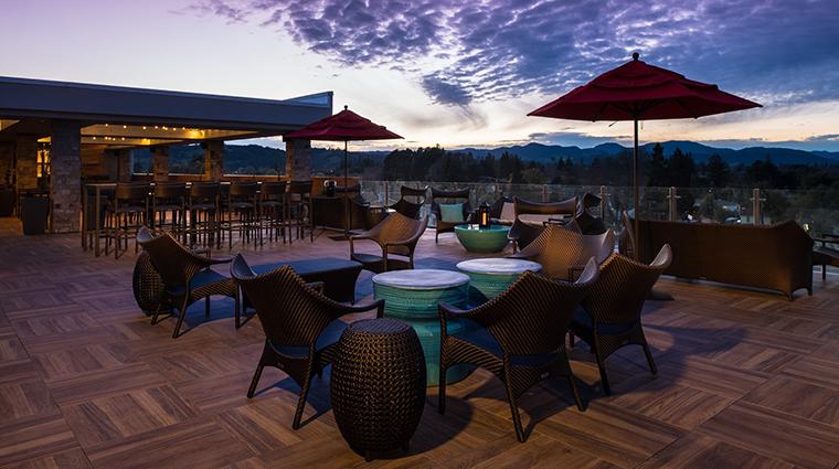 archer hotel napa sky vine rooftop night