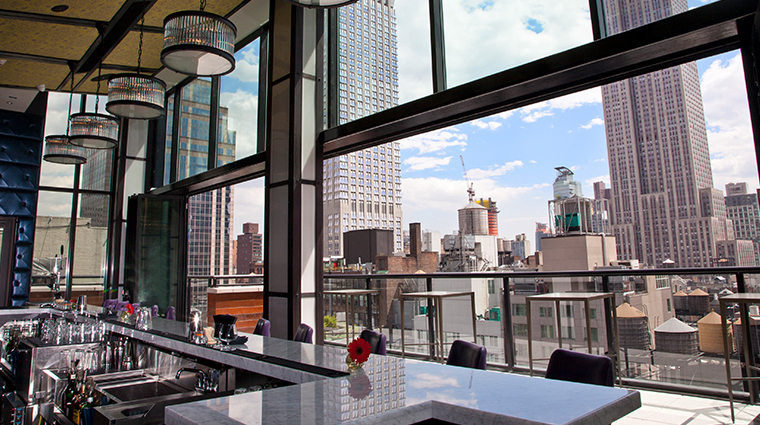archer hotel new york spyglass bar