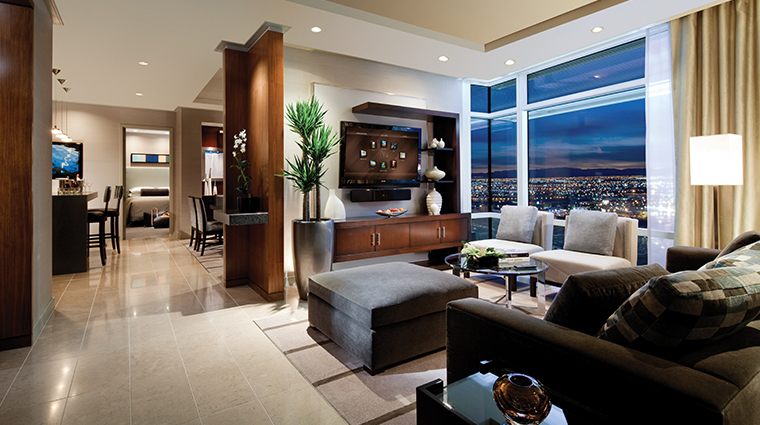 aria sky suites pent living room