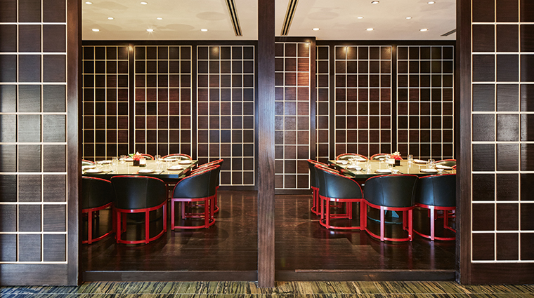 armani hotel dubai Hashi private dining room