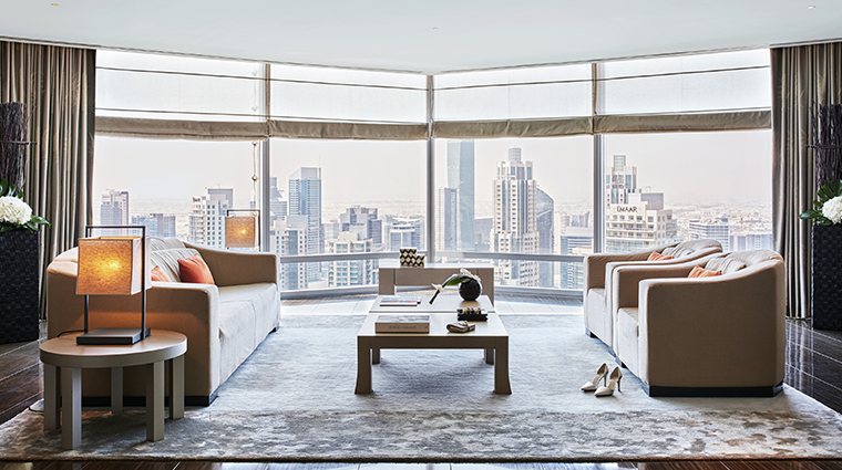 armani hotel dubai signature suite living room