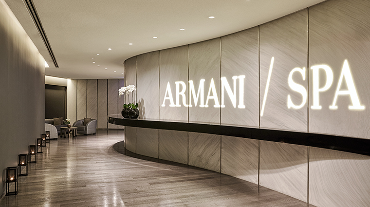 armani hotel dubai spa entrance