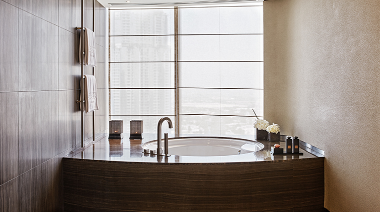 armani hotel dubai suite bathroom