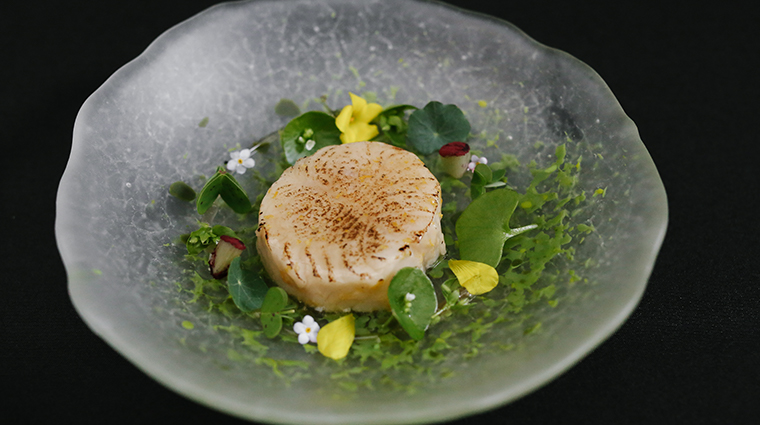 atelier crenn black cod and coastal greens