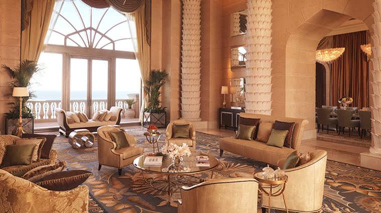 atlantis the palm royal bridge suite living area