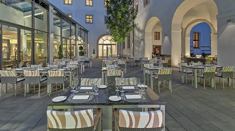 augustine a luxury collection hotel restaurant terrace