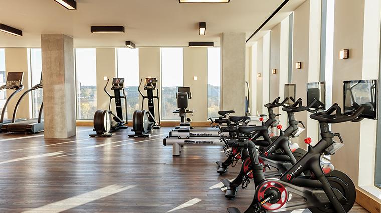 austin proper hotel fitness center bikes