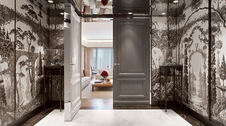 baccarat hotel and residences suite entrance