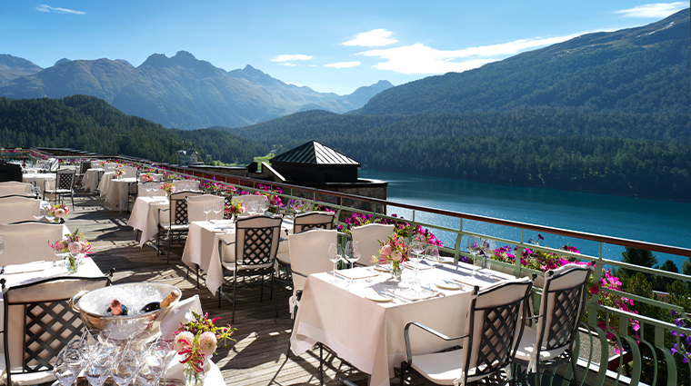 11 badrutts palace hotel terrace dining