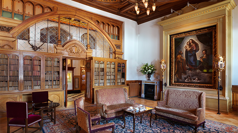 14 badrutts palace hotel library