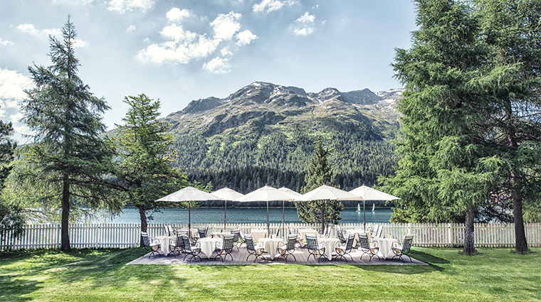 18 badrutts palace hotel outdoor dining