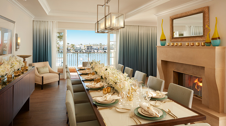 balboa bay resort Presidential suite dining room