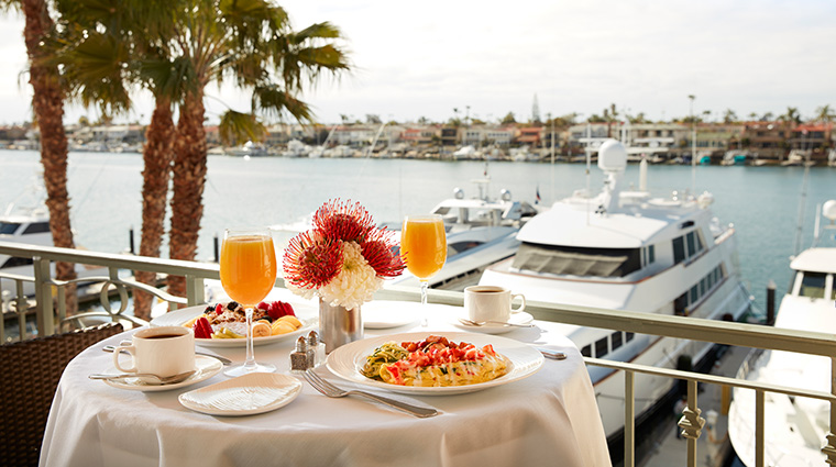 balboa bay resort breakfast on balcony