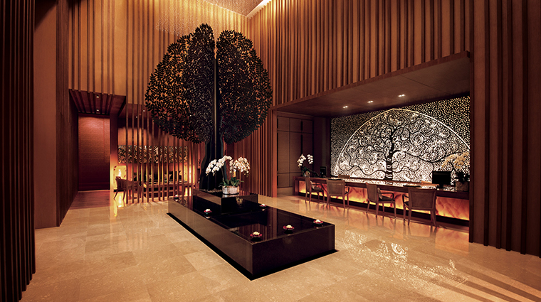 banyan tree spa marina bay sands reception