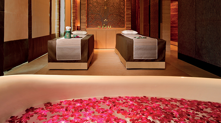 banyan tree spa marina bay sands rose bath