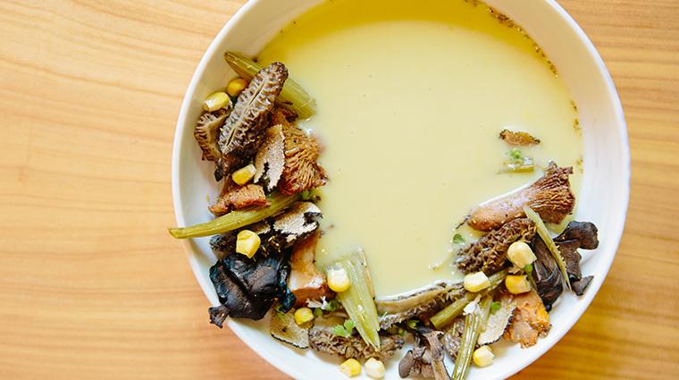 bardessono hotel and spa chilled corn soup