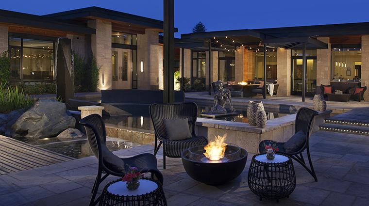 bardessono hotel and spa firepit