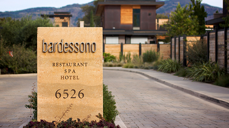 bardessono hotel and spa sinage