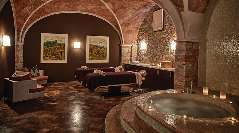 belmond castello di casole spa treatment room