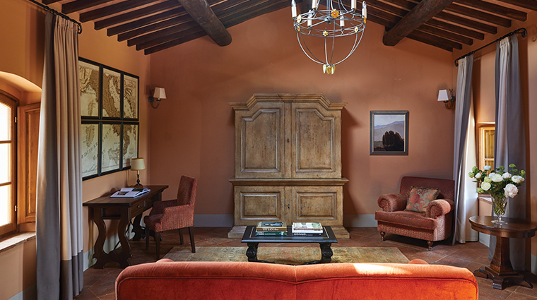 belmond castello di casole suite living room2