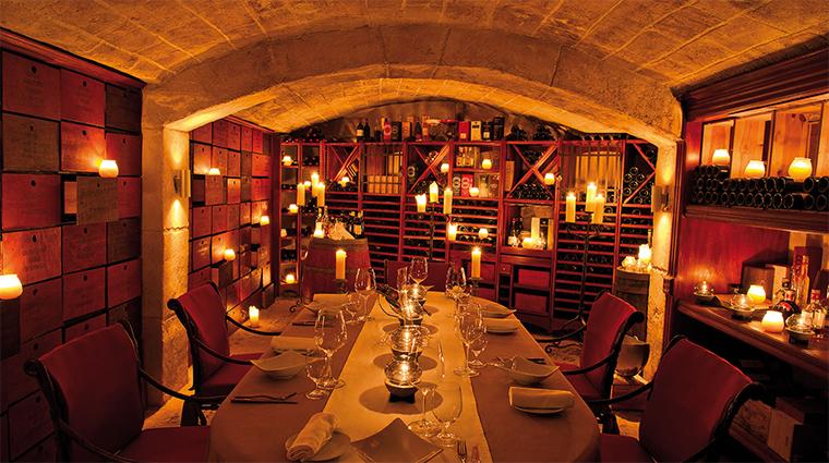 belmond la samanna La Cave Wine Cellar Dining