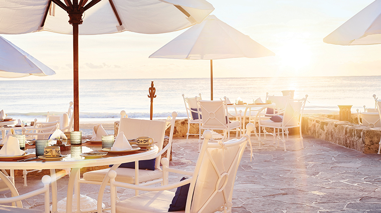 belmond maroma resort spa el restaruante breakfast