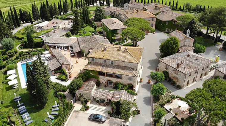 hotel borgo san felice aerial