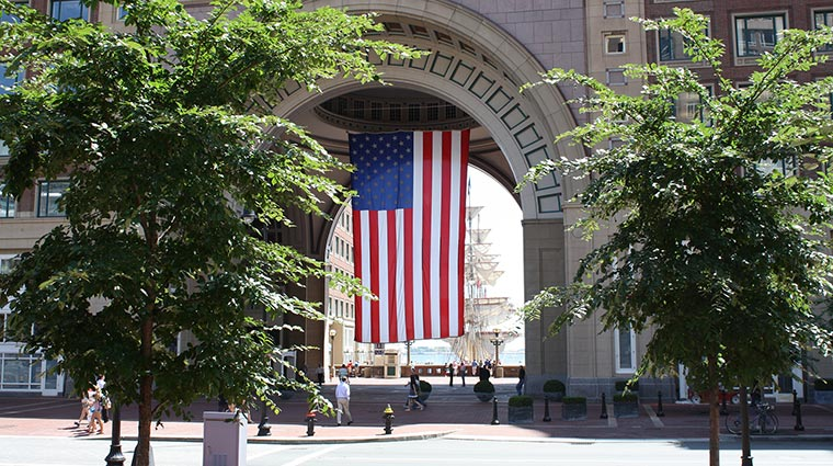 boston harbor hotel flag arch